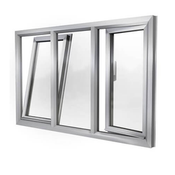 Powder Coated Modern Aluminium Tilt Window for Home, Size/dimension: 5x4 Feet