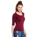 Plain Ladies Cotton T Shirt