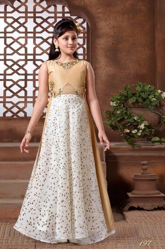9250a3cb1 Jecard Silk Wedding Wear Kids Fancy Gown, Size: Medium, Rs 1699 ...