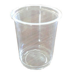Plastic Plain Disposable Transparent Glass