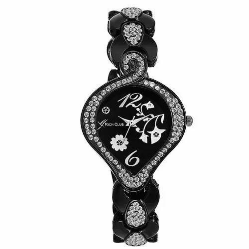 Casual Wear Ladies Rich Club Quartz Movement Watch
