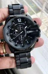 New Black Diesel 10 Bar Wrist Watch