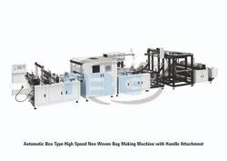 Automatic Box Type High Speed Non Woven Bag Making Machine With Handle Attachment