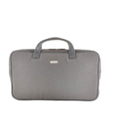 Grey Synthetic Leather Laptop Bag