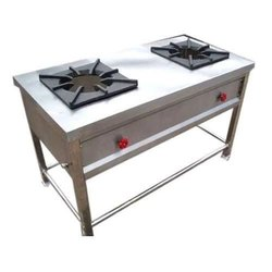 Two Burner Commercial Gas Stove, For Kitchen, Size: 4 X 2 Feet
