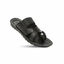Black VKC pride Men's Leather Slipper