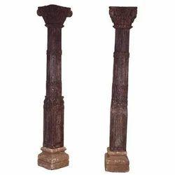 Wood Brown Antique Pillars