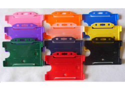 Multicolor Plastic ID Card Holder