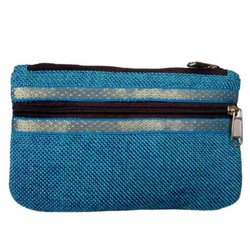 Fancy Jute Pouch Bag With Zipper
