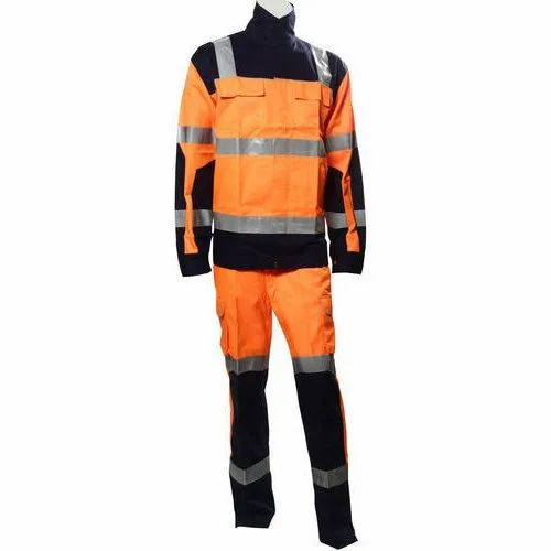 Orange & Black High Visibility Safety Jacket Set