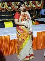 Theyam Mural Saree