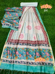 Unstitched Chandari Silk Suit