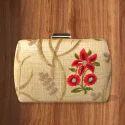 Rectangle Shape Embroidery Clutch