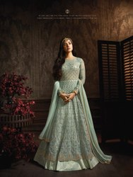 Georgette Embroidered Bollywood Ethnic Designer Long Dress
