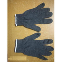 Full Finger Grey Cotton Knitted Gloves