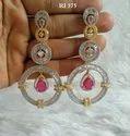 Radiant Impex Copper Cz Designer Earring