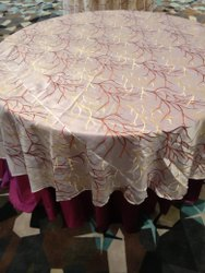 Sybaritic Linen Round Banquet Silk Table Cover
