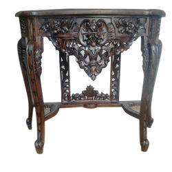 Brown Wooden Cansol Table