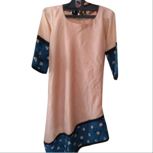 Printed Casual Ladies Cotton Tunic Top
