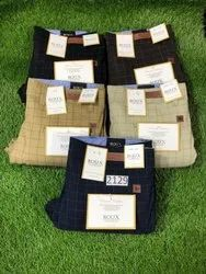 Cotton Chinos Mens Check Trouser