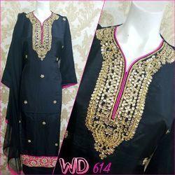 Silk Party Wear Suits W-614