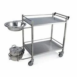 SS Dressing Trolley With Bowl And Bucket