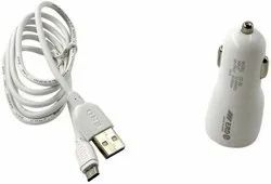 ERD CC-50 2amp Micro USB Data Cable Car Charger (White)