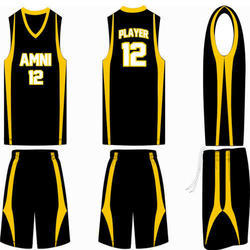 Black And Yellow Basketball Uniform