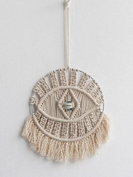 Handmade Macrame Eye Tassel Tapestry Dream Catcher