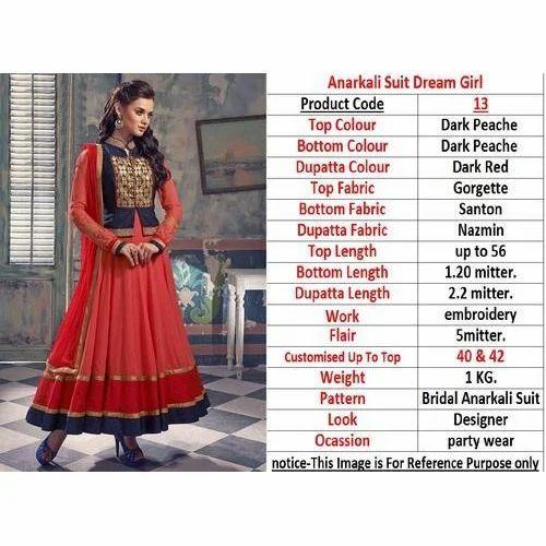 25e1a57c6f Georgette Fancy Party Wear Ladies Anarkali Kurti, Rs 1000 /piece ...