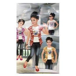 Denim And Cotton Girl''s Full Set, Size: X And XL