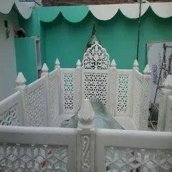 Indoor White Marble Mazaar Katera, Size: 6ft * 3ft * 1.5ft