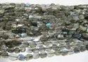 Natural Labradorite Oval Faceted 6-10mm Beads Blue Flashy Strands 13 inch