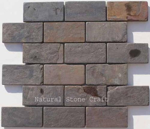 Stone Multi Color Slate Tile, Thickness: 10-15 Mm ,Packaging Type: Cartoon Box