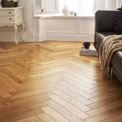 Oak Engineered Herringbone Pattern Wooden Flooring
