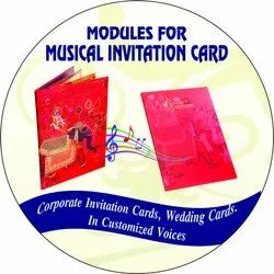 Indian Punjabi Marriage Wedding Invitation Card Musical Sound Module with Song Veer Ji Vihane Chale