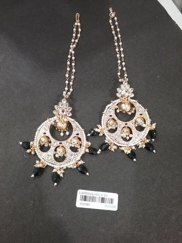 Kundan Chandelier Jhumka Earrings at Rs 365 /pair | Abdul Rehman ...