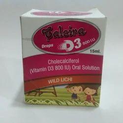 Cholecalciferol (Vitamin D3 800 IU) Oral Solution, Packaging Size: 15 mL