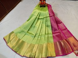 Wedding Wear Green Kanchi Kuppadam Saree