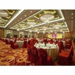 Banquet Hall Interior Design Services, Work Provided: Wood Work & Furniture