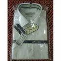 Micro Formal Wear Mens White Plain Shirt, Handwash, Size: 38
