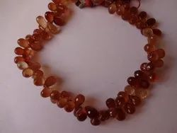 Hessonite Garnet Teardrops Shape Faceted Briolette Beads Strands, Shaded, Brown, Orange