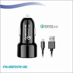 Ambrane Car Charger with Data Cable
