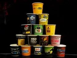 One Time Printing And Distribution Printed Paper Cup Advertising Services, For Brand Promotion