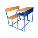 Brown, Blue Gi 3 Seater Wooden School/college Bench