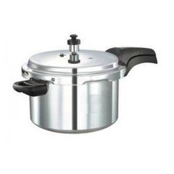 Silver Aluminium 5 Liter Aluminum Pressure Cooker, For Domestic and Commercial, Packaging Type: Box