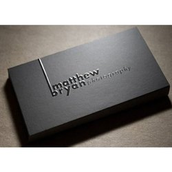 Matt Lamination Single Side with Spot UV Visiting Cards