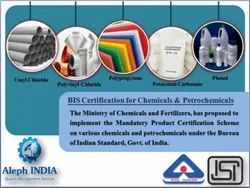 ISI Mark Certifications for Chemicals and Petrochemicals