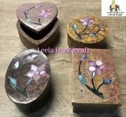 Soap Stone Inlay Box