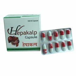 HEPAKALP CAPSULE Herbal Hepakalp Capsules, Packaging Size: 10 Strips Per Box., Grade Standard: Medicine Grade